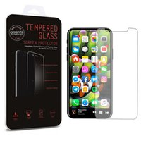 Wholesale Iphone V5 - For Iphone X 8 7 Plus Screen Protector Tempered Glass Good Quality 0.26mm 2.5D For iPhone 6s Galaxy on5 S7 J7 prime LG V5 Retail Package