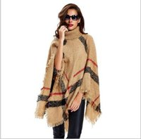 Quaste Schal Poncho Mode Fringe Wraps Frauen Stricken Schals Winter Cape Solide Schal Lose Strickjacke Mantel Decken Mantel Sweate 100 STÜCKE YYA505