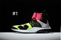 Wholesale X Volt - Wholesale New ACRONYM X Air Presto Mid ZIP Mens Running Shoes Sportswear volt bright crimson Hot Lava Volt Casual Sports Shoes Size 40-45