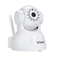 vigilancia remota de la cámara al por mayor-Sricam Cámara IP WIFI 720P Sistema de Vigilancia de Seguridad para el Hogar Onvif P2P Teléfono Cámara de Video Vigilancia Inalámbrica 1.0MP