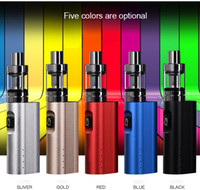 Wholesale Health Cigarette Sets - 50W Electronic Cigarette Kits High Power Box Mod 2200mAh Big Battery 3ml Atomizer Tank Large Smoke Safe And Health Starter Sets