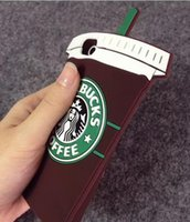 Wholesale Fit Coffee - 3D Starbucks Coffee Cartoon Soft Silicone GEL Case For Iphone 8 8TH 7 Plus 6 6S SE 5S Samsung Galaxy S7 EDGE S6 S5 Cup Simulation Skin Cover