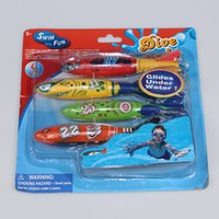 Wholesale Dove Bath - Summber Water Toys Underwater Torpedo Rocket Swimming Pool Toy Swim Dive Torpedo Throwing Toys Best Toys For Children