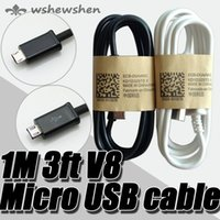 Wholesale 1M FT Micro USB Data Sync Charger Cable Adapter For Samsung Galaxy S4 S IV i9500 S3 S2 Blackberry HTC Hot sellig