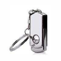 Wholesale Memory Drive 256 - No Logo 5 Piece Metal Rotatable USB Drives Brand New USB Memory Stick Whirl U Disk USB2.0