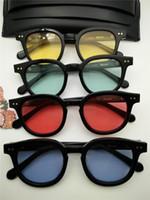 moda óculos korea venda por atacado-Nova Alta Qualidade V Acetato Óculos de noite Coréia moda Bowie oculos óculos de Sol dos homens óculos de sol das mulheres óculos de sol occhiali lentes de sol