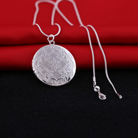 Wholesale I Love Mix Gift - 2016 Fashion 925 Sterling Silver Plated Living Locket Pendant Necklaces I LOVE YOU Heart Letter Necklace With Chain Mix style for choose