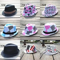 Wholesale Dicers Fedora Hats - Mixed style Fashion children hat Dicers Baby fedora hats Cowboy hat Kids fedoras 10pcs lot