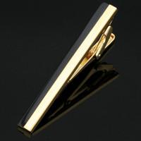 clips de corbata al por mayor-Los clips del lazo de la corbata de la joyería del clip de los hombres libres del envío acortan la camisa masculina del oro sólido de la camisa masculina del corchete del lazo corchete L-214