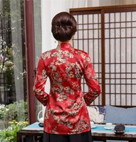 Wholesale Silk Blouse For Summer - Shanghai Story 3 4 Sleeve Chinese Traditional Summer Top Vintage Women Faux Silk Blouse Shirt Chinese Blouses For Lady Hanfu Tops
