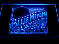 Wholesale Neon Lights Logo - Blue Moon Beer Bar Pub Logo Neon Light Sign -LE167b