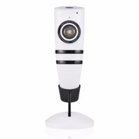 Atacado- ANTCREST HD 720P Home Fisheye 180 graus panorâmico Wifi Security IP Camera Wi-fi IR Cut Video Intercom Night Vision Surveillance