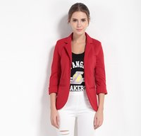 Wholesale Ladies Black White Blazer - Blazer Feminino Long Sleeve Women's Coat Jaqueta Feminina Office Lady Cardigan Casaco Feminino Women Blazers and Jackets 7 Colors