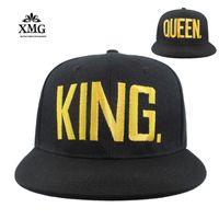 стиль короля шляпы оптовых-Оптовая продажа-2017 новый стиль бейсболка Hat queen летняя мода мужчины весна лето Sun king письмо вышитые бейсболка Hat хип-хоп cap
