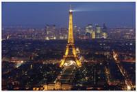 turm hintergrund großhandel-High-End-Custom 3D Fototapete Wandmalereien Wand Papier Eiffelturm Nacht Szene 3D Wohnzimmer Tapete Hintergrund Wand Wohnkultur