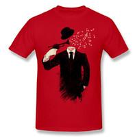 únicos hombres casuales camisetas al por mayor-Blown Unique Tee Shirts Hombre Hombre vendedor caliente Camisetas Funky Hombre Camisa y camiseta de algodón natural Crazy Natural Cotton Trabajo personalizado camisetas