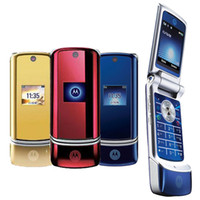 Wholesale Cheap Quad Band Unlocked Phones - Original Motorola ZRKR K1 Cell Phone 1.9Inch Screen Quad Band GSM Unlocked 2.0MP Camera Bluetooth MP3 Filp Cheap Phone