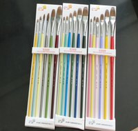 Wholesale Evening Drew - 3Types Even Number 6Sizes set Oil painting brushes Oil Paint Brushes Drawing Painting Pro Art Paint Brush painting brushes