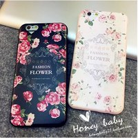 Gros-luxe Soft Cover 3D Fashion Flower Case Pour Apple iPhone 6 Case princesse fille 6S Case Series 6 Silicone Pour Téléphone