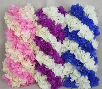 Wholesale Flower Embellishments - Simulation Hydrangea row of high-imitation wedding road embellishment line wedding decoration props HJIA1014