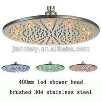 Wholesale Heated Shower Heads - fashion stainless steel rainbow rainfall waterfall heated shower head