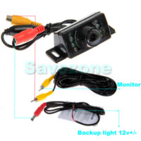 Car Rear View Kit de backup Invertendo Câmara 7IR LED + 4,3