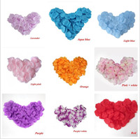 Wholesale Cheap Wedding Confetti - 2016 Cheap! Top quality 1000 pcs lot Silk Rose Flower Petals Leaves Wedding Decorations Party Festival Table Confetti Decor Many color