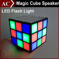 Magic Cube Colorful 36 LED Flash Light Bluetooth Wireless Mini Speaker Portable Super Bass Sound Subwoofer Handsfree para iPhone iPad Tablet
