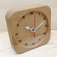 Wholesale Style Table Clock - Home & Office Table Clock Pure beech wood clock super-quiet DIY creative art clock Alarm clock home office Decoration