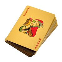 sports playing cards - 24K Gold Foil Plated Poker Card Playing Card Game High grade Sports Leisure Game Poker Card Gift