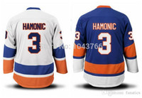 Wholesale Full Quality Assurance - 2017 Quality Assurance white 3 Travis Hamonic jersey blue Supplier Travis Hamonic jersey
