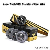 Wholesale Best Resistance - Best SS316 Stainless Steel Wire VAPOR TECH High Resistance Heating Wire 26 28 30gauge AWG 30 Feet Roll ecigs Resistance Coil DHL Free