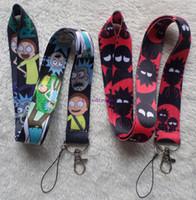 telefon schnüre lanyards großhandel-Hot! 20 Teile / los anime cartoon Hot Cartoon Rick und Morty Handy Seil Strap Cords Lariat Clip Lanyards