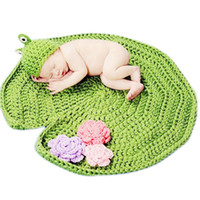 0-2T special frog - Cute Baby Infant Handmade Crochet Lotus Leaf Blanket Costume with Frog Hat Photography Props Newborn Girls Boys Crochet Accessories