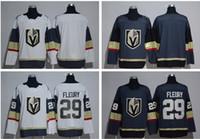 Wholesale Dark Green Jersey - 2017 Stitched NHL Vegas Golden Knights Blank #29 Marc-Andre Fleury White Dark Grey Hockey Jerseys Ice