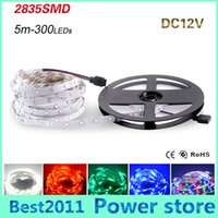 Wholesale String Lamp Price - SMD 2835 LED Strip light 300 LEDs   5M New Year String Ribbon lamp More Brighter than 3528 3014 Lower Price 5050 5630 Tape
