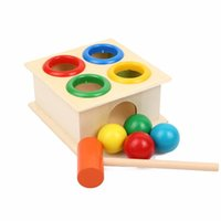 Wholesale Girls Beat - wholesale toys Small hammer percussion hammer innocence cartridge box beat children's educational toy building puzzles small toys