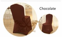 Wholesale Spandex Chocolate Chair Covers Wholesale - Polyester Chocolate Color Cheap Price Lycra Lycra Spandex Chair Cover Used For Hotel Wedding