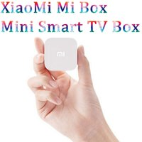 Al por mayor-XiaoMi Mi Box Mini Smart TV Box Android 4.4 MT8685 Quad Core 1 GB de RAM 4 GB ROM 1080P H.265 Decodificador Google TV Player HTPC Bluetooth