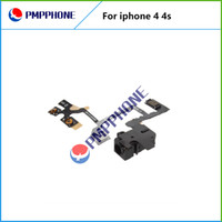 Wholesale Iphone 4s Headphone Flex Cable - Good Qulity For iPhone 4 4S Headphone Audio Jack Power Volume Switch Flex Cable Replacement & Fast shipping