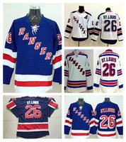 Wholesale Rangers Sports - New York Rangers 26 Martin St. Louis Throwback Jerseys Sport Ice Hockey Navy Blue Team Color Alternate White Fashion Embroider Logos