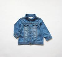chaqueta suave de bebé al por mayor-1-4Y manteau bebe baby poncho chaqueta niños abrigos abrigo de mezclilla delgada de algodón para niñas abrigos finos y chaquetas infantil menina jaqueta