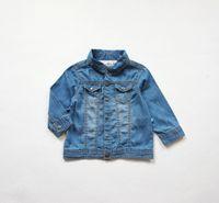 Wholesale Thin Baby Jacket - 1-5Y manteau bebe baby poncho jacket kids coats soft cotton thin denim coat for girls thin coats and jackets infantil menina jaqueta