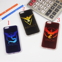 "Wholesale Iphone Team Cases - Free Shipping 2016 Hot Games Team Valor Mystic Instinct Print Soft TPU Protection Cover Cellphone Cases for iphone 5 6 6plus 4.7"" 5.5"""