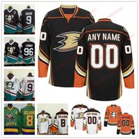 Wholesale Womens Xxl - Stitched Custom Anaheim Ducks mens womens youth OLD BRAND Orange White Black Third Mighty Purple White vintage ice hockey green Jersey S-4XL