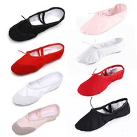 Wholesale Girls Dancing Ballet Shoes - Ballet Dance Shoes Paws Belly Dancing Canvas Practice Kids Girls Ladies Split Sole Freed Pure Ballet Gymnastics Pointe Shoes