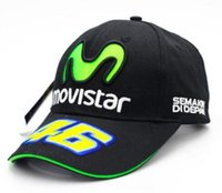 Wholesale Bone 46 - New F1 MOTO GP Rossi VR 46 Motorcycle gorras men Racing bone Caps VR46 Baseball Cap Hat snapback casquette polo Hats