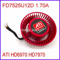 Wholesale Graphics Cards Ati - Wholesale- Free Shipping Firstdo FD7525U12D 1.70A 12V For ATI HD6970 HD7970 Graphics Card Cooler Cooling Fan 4Pin 4Wire