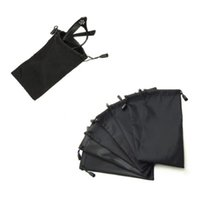 Wholesale soft bags for glasses - 10PCS Pouches for Sunglasses Mp3 Soft Cloth Dust Pouch Optical Glasses Carry Bag