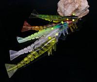 Wholesale Crank Lures Shrimp - 5Pcs shrimp bait 5 jointed soft shrimp lure 8.5g 10g crank hook bait